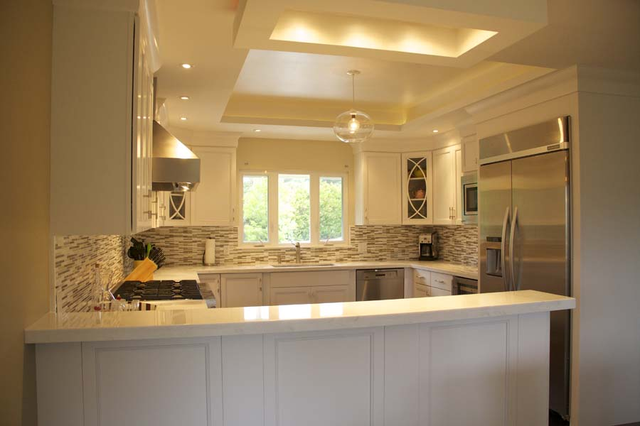 Cypress Design & Build Completed White Kitchen Counters