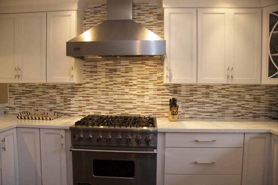 Cypress Design & Build Completed Kitchen Backsplash