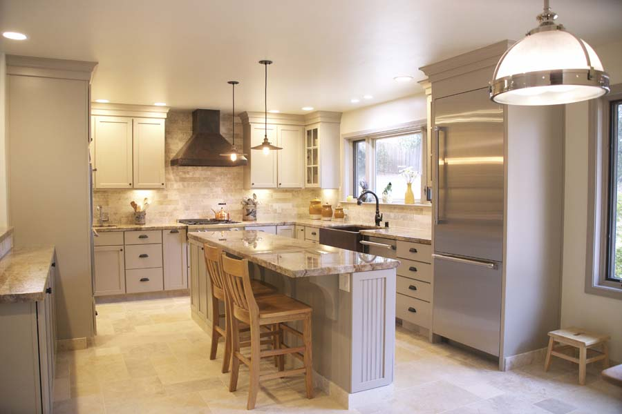 Cypress Design & Build Completed Kitchen Galley Style