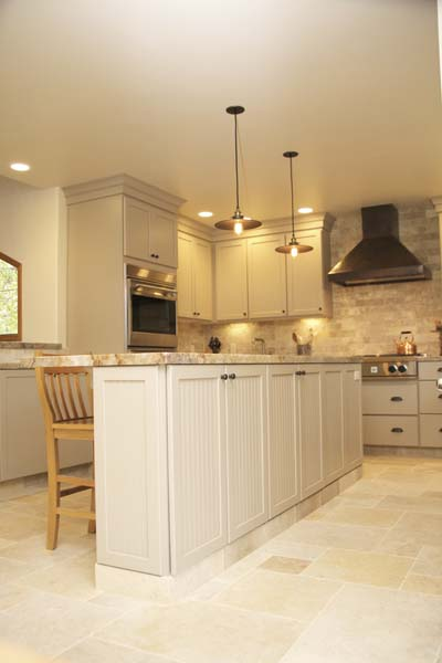 Cypress Design & Build Completed Kitchen White Island