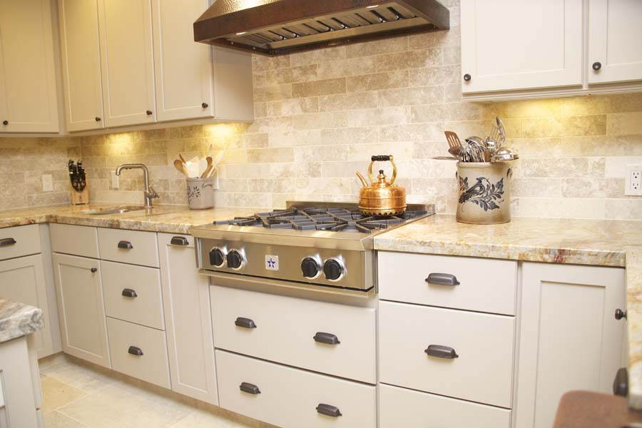 Cypress Design & Build Completed Kitchen Stove
