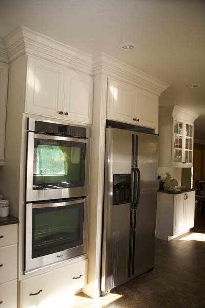 Cypress Design & Build Completed Kitchen Fridge Cabinets
