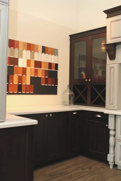 Cypress Design & Build Showroom Cabinet Color Selection