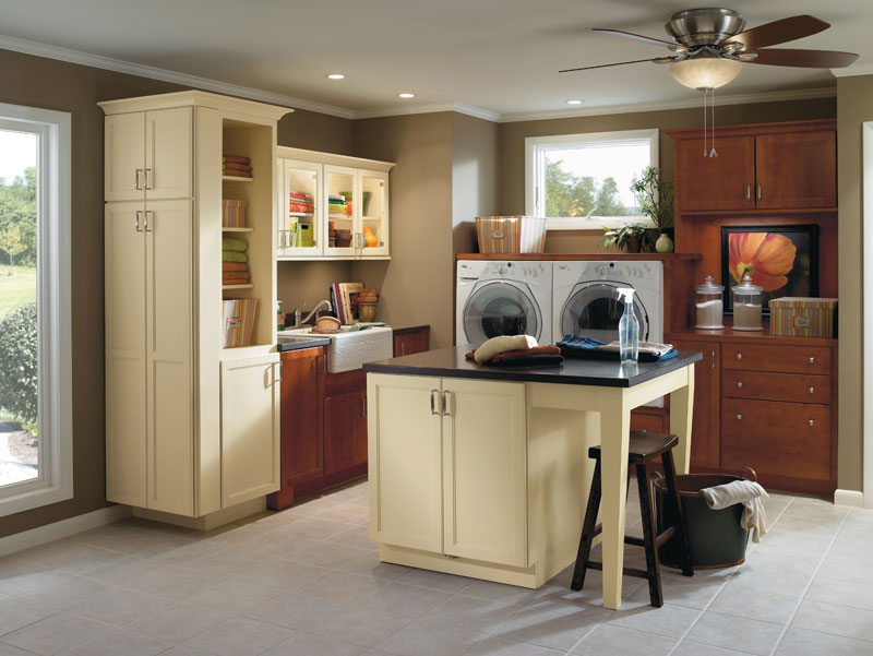 Laundry Room Storage With Counter