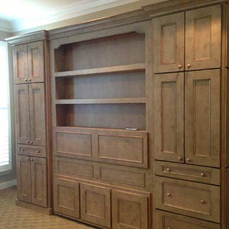 Murphy Bed and Cabinets from Cypress Design & Build
